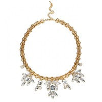 Sole Society Link And Floral Statement Necklace