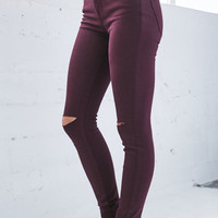 Bullhead Denim Co. Merlot Ripped High Rise Skinny Jeans at PacSun.com