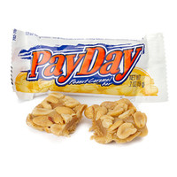 PayDay Snack Size Candy Bars: 192-Piece Case