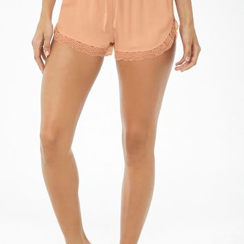Lace-Trim Pajama Shorts