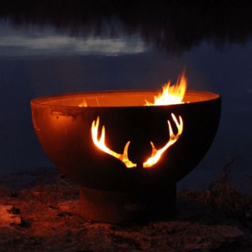 """Antlers 36"""" Fire Pit by Fire Pit Art"""
