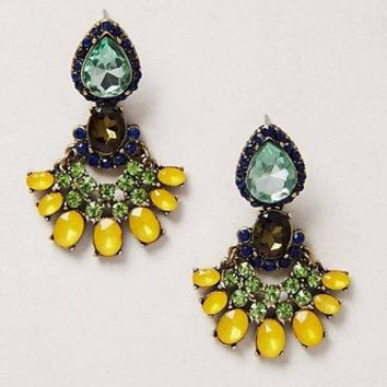NWT Anthropologie Zizi Petalwork Drops Earrings