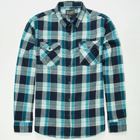 Retrofit Pop Mens Flannel Shirt Navy  In Sizes