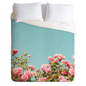 Hello Twiggs Roses are Pink Duvet Cover