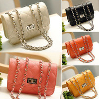 2013 New Arrived Women Girl Handbag Messenger Cross Body chain Shoulder Bag