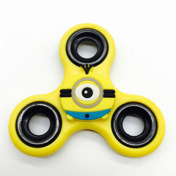 Cartoon Minions Stitch Captain American Fidget Spinner Metal Hand Spiner Finger Spinner Tri-Spinner Anti Stress Toys for ADHD