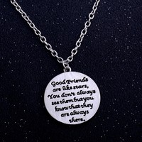 Best Friends Are Like Stars Love Chain Pendant Necklace Friendship Women Men BFF Jewelry Charm Gifts