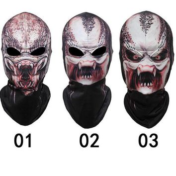 DCCKH6B Terror Alien Predator Masks Skeleton Skull Berserker Tactical Ghost Halloween Balaclava Hats Full Face Mask