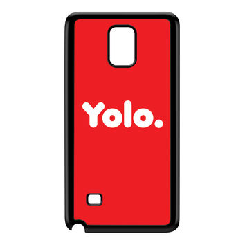 Yolo Red Black Hard Plastic Case for Galaxy Note 4 by textGuy