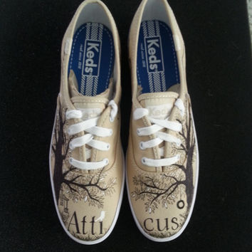 To Kill A Mockingbird Themed Atticus Finch custom made shoes Adult and Kid Sizes Available SHOES INCLUDED