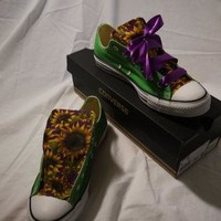 Custom Converse with Sunflower Design