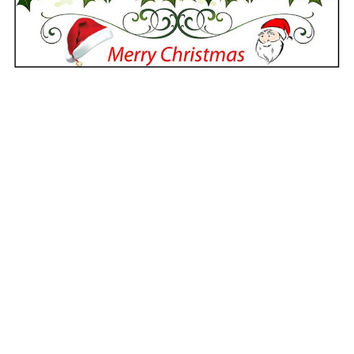 Instant Download, Santa Claus, Merry Christmas, Holiday Decor, Chrismas Decor,  PDF Pattern, Cross Stitch Pattern