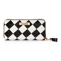 Black & White Check Alligator Leather Wallet | zulily