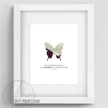 Original Wall Art, Printable Wall Art, Scripture, Bible Verse, Bible Verse Wall Art, Butterfly Home Decor, Inspirational, Scripture, Nature