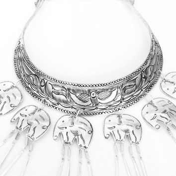 Sacred Ivory Hmong Collar Necklace