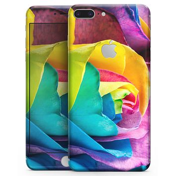 Rainbow Dyed Rose V4 - Skin-kit for the iPhone 8 or 8 Plus