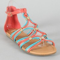 Soda Choose-S Strappy Open Toe Flat Sandal