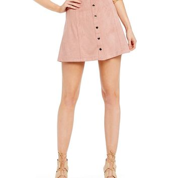 Kensie Faux Suede Mini Skirt | Dillards