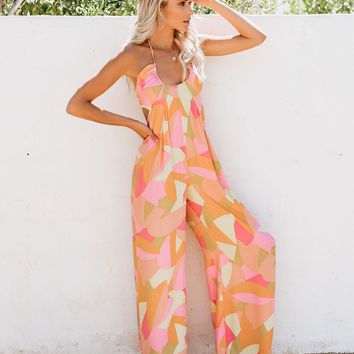 At The Disco Printed Jumpsuit - FINAL SALE