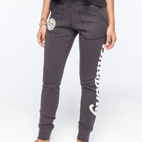 Billabong Beyond Words Womens Crop Sweatpants Off Black  In Sizes