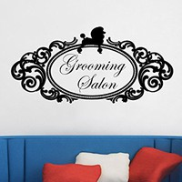 Grooming Salon Wall Decal Vinyl Sticker Decals Petshop Dog Animals Home Decor Art Design Interior C497