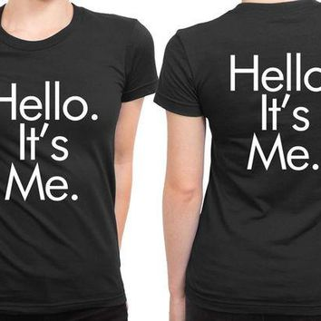 DCCKG72 Adele Hello Quote It Is Me Futura 2 Sided Womens T Shirt