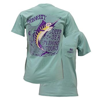 Southern Couture High Priority Deep Sea Fishing Fish Country Pocket Unisex Bright T Shirt
