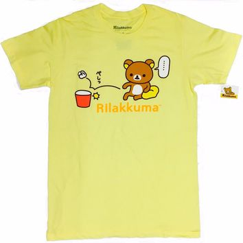 ANIME Rilakkuma The Bear Miss The Throw T-Shirt NWT 100% Authentic & Licensed