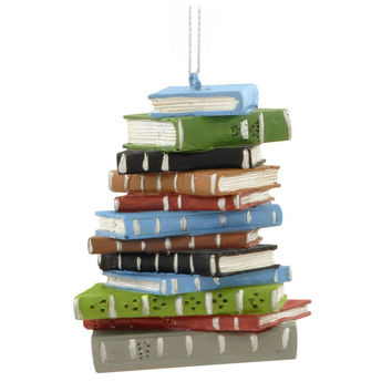 Librarian - Book Stack Ornament