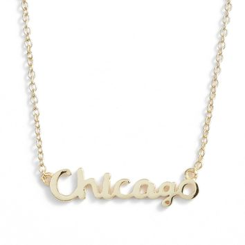 Argento Vivo Script Chicago Pendant Necklace | Nordstrom