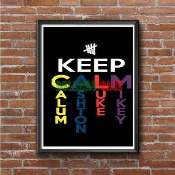5 Second of Summer Keep Calm Photo Poster
