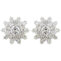 Harry Winston 11.13 Carat Diamond Flower Studs