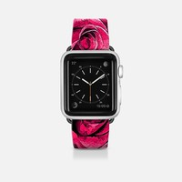 Dark Pink Roses Sketch Apple Watch Band (42mm) by Christy Leigh | Casetify