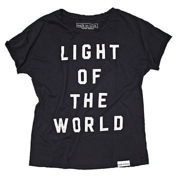 Light of the World Black Disheveled Women's T-Shirt