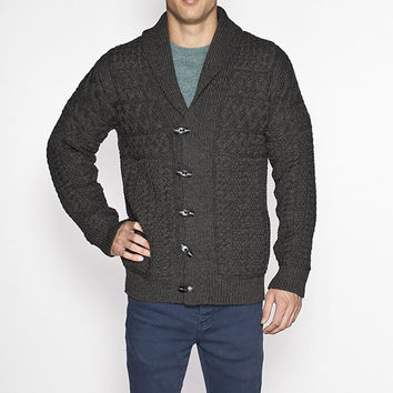 Men's Chunky Cable Knit Cardigan