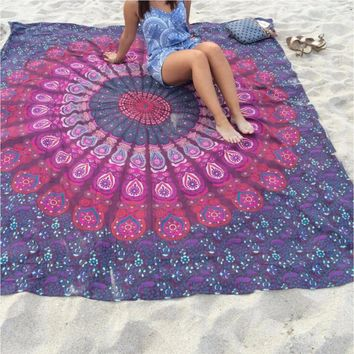 Chiffon Skirt square sunscreen shawl yoga mat beach towel shawl beach mat wall Anti-sunburn
