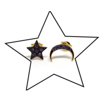"MAGIC by Love and Madness ""Co-Dependent"" Star and Moon Earrings"