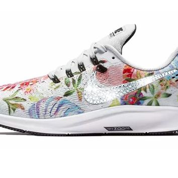 Nike Air Zoom Pegasus 35 + Crystals - Floral