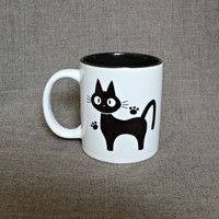 Jiji The Cat from Kiki's Delivery Service 11 oz Ceramic Mug