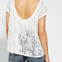 Urban Outfitters - Kimchi Blue Scoop Back Flutter Tee