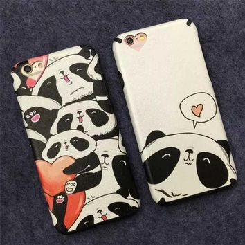 ONETOW Cute Stylish On Sale Iphone 6/6s Hot Sale Hot Deal Panda Apple Iphone Cartoons Phone Case [8864219655]