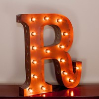 """24"""" Letter R Lighted Vintage Marquee Letters with Screw-on Sockets"""