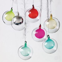 Double Glass Sphere Ornament | west elm