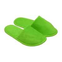 Terry Closed Toe Slippers - Apple Green