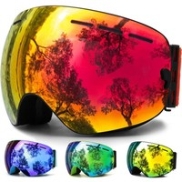 JULI Snow Goggles,Winter Snow Sports Snowboard Goggles with Anti-fog UV Protection Interchangeable Spherical Dual Lens for Youth