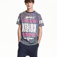Mesh T-shirt - from H&M