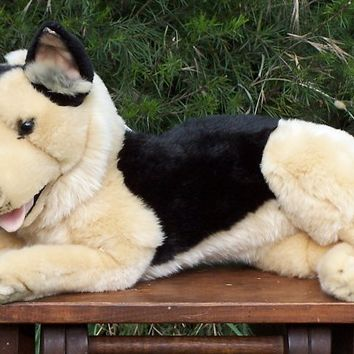 Plush Lying German Shepherd Stuffed Animal