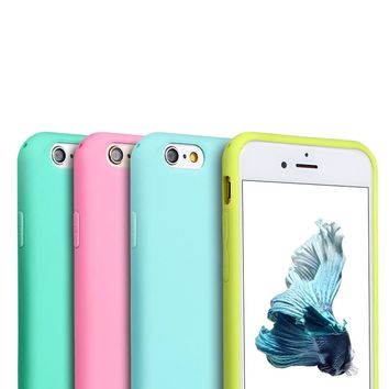 ITEUU 6 6S Candy TPU Matte Case for Apple iphone 6 6S Cases Silicone Gel Soft Elegant Back Cover Anti-fingerprint for iPhone 6S