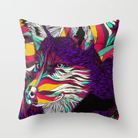 Color Husky Throw Pillow by Danny Ivan