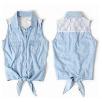 Little Boutique — Lace Sleeveless Shirt